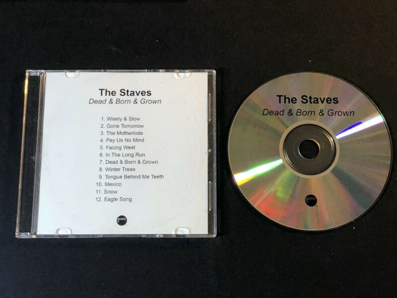 THE STAVES DEAD BORN GROWN 2012 PROMO CD - $20.00