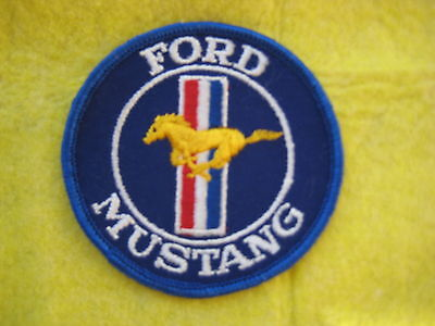 """Vintage Ford Mustang   Racing  Patch 3 """" X 3"""""""