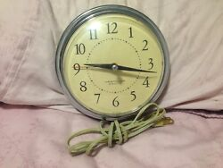 Vintage WESTCLOX 7 Electric Chrome Wall Clock SPICE S13-G - Working