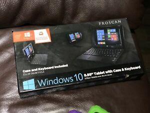 "Windows 10 8.95"" Proscan tablet with case & Keyboard"