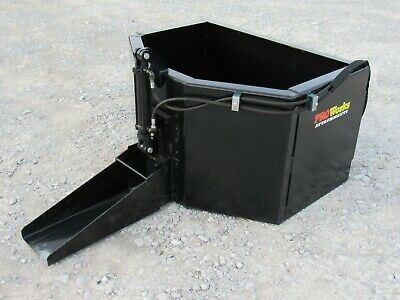 Hydraulic Concrete Bucket Attachment Fits Skid Steer Loader 58 Cubic Yard
