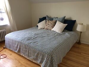 Free king mattress with box spring and double futon