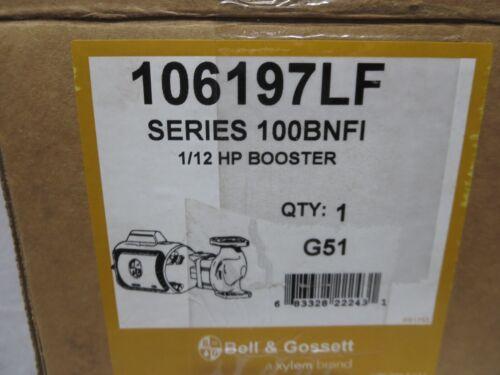Bell & Gossett 106197LF 100 BNFI Bronze Pump..NEW