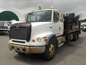 2002 Freightliner FL112 with Hiab 175 Crane Truck and Air Brakes