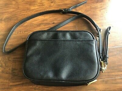 Phillip Lim Black Leather Phone/Tablet Travel Case Shoulder Bag