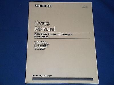 Cat Caterpillar D4h Lgp Series Iii Tractor Dozer Parts Book Manual Sn 4nk1-up