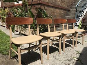 Danish Mid Century Retro Vintage Dining Chairs