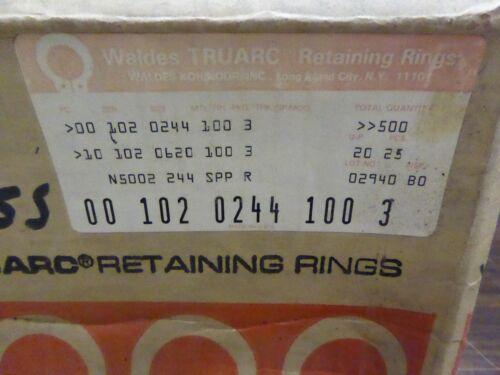 Waldes Truarc Retaining Rings N5002 244  Lot of 500