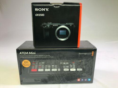 BLACKMAGIC DESIGN ATEM MINI HDMI SWITCHER + SONY A6500 CAMERA BUNDLE