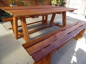 large outdoor setting made from merbau timber Edithvale Kingston Area Preview