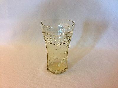 Amber PATRICIAN Spoke Depression Glass FLAT Iced TEA Tumbler, FREE U.S. SHIPPING