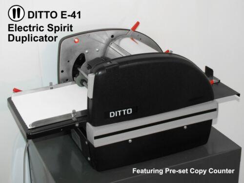 DITTO E-41 ELECTRIC SPIRIT FLUID DUPLICATOR DUPLICATING MIMEOGRAPH COPY MACHINE