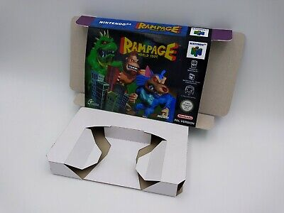 Rampage World Tour - reproduction box with insert - N64 - Pal or NTSC REGION.