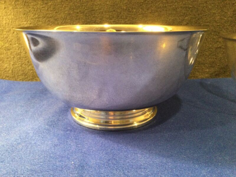 """Oneida 8"""" Silver Plate Paul Revere Reproduction Bowl with Plastic protect liner"""