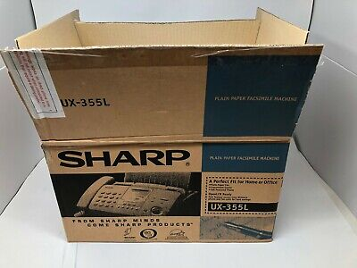 New Sharp Ux-355l Heavy Duty Plain Paper Facsimile Machine
