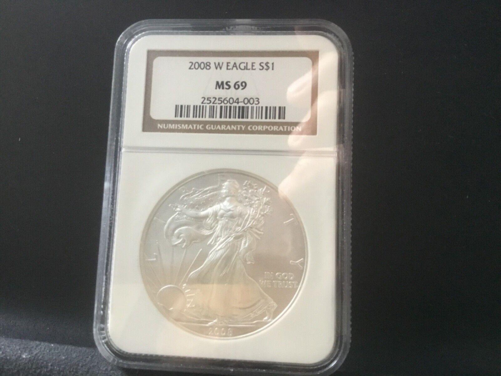 2008-W AMERICA SILVER EAGLE MS-69 - $41.00