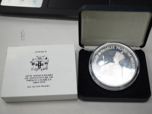 1979 Jamaica Prince Charles $25 Prf Sterling Silver Coin (ASW 4.05 Oz.) in OGP