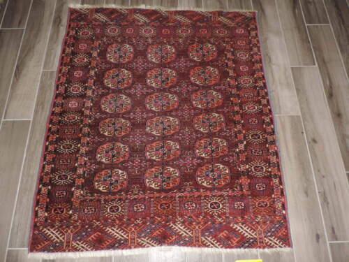 4x5ft. Antique Tekke Bokharra Turkoman Wool Rug