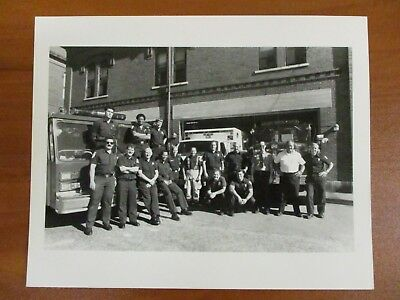 Vtg Glossy Press Photo Natick MA Third Shift at the Natick Fire Dept. (The Natick Collection)