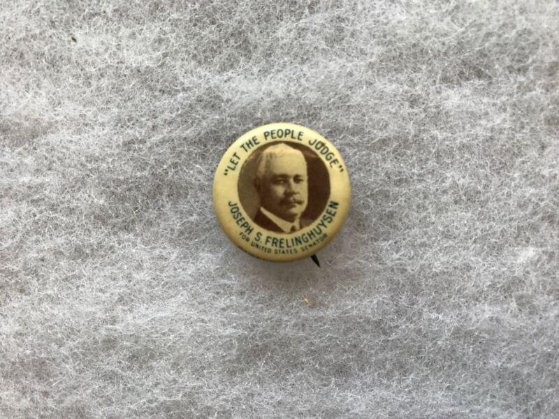 Joseph S. Frelinghuysen Vintage Celluloid Political Button, Circa 1916