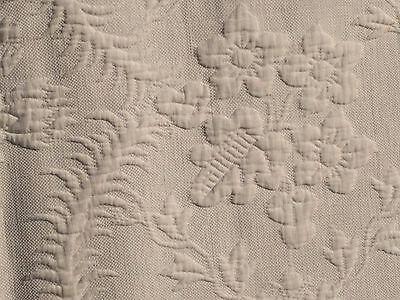 """Vtg Bedspread Woven Hand Loom ~94""""x90"""" Fringe Floral Antique Boho 1897"""