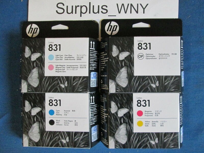 NEW HP 831 PRINTHEAD SET LATEX CZ677A CZ678A CZ679A CZ680A 2022