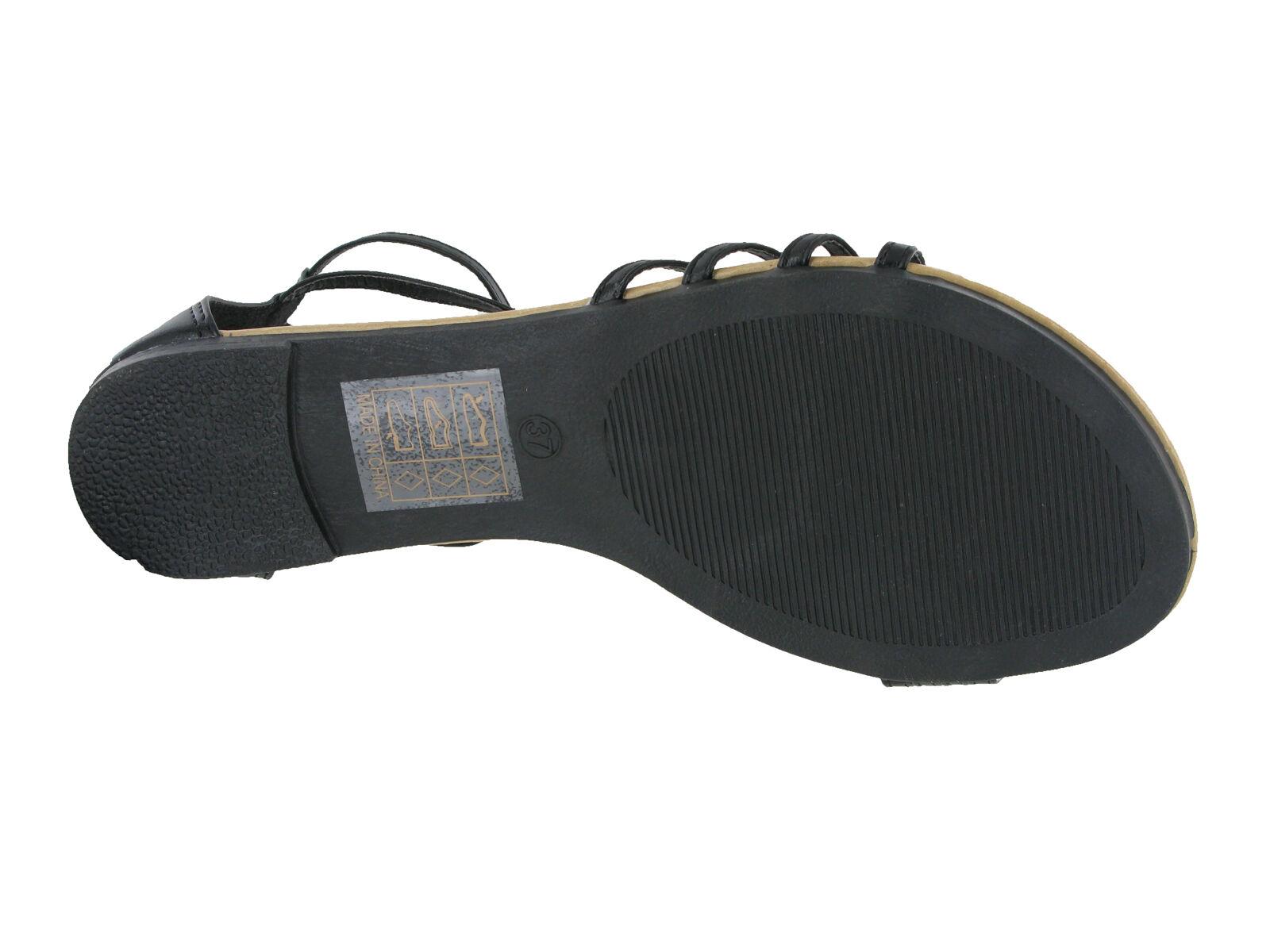 Détails sur Été Plat Cheville Sandales Femmes Mode Fermeture Bordure Métal Chaussures UK3 8