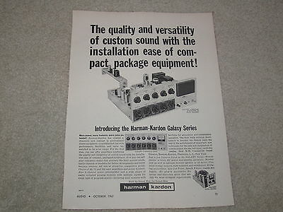Harman Kardon Galaxy Integrated Original Ad, 1 page, 1962, Article,Power Booster