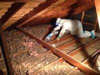 Attic insulation technician
