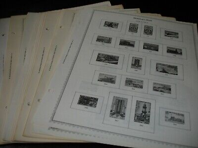 """Country """"A""""-""""B"""", 70+ Double Sided Minkus Album Pages, 1950's//1970's. No stamps"""