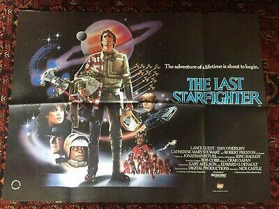THE LAST STARFIGHTER Original Quad British Film Poster 1984 Vintage Star Wars