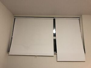 IKEA white roller shades (blackout)