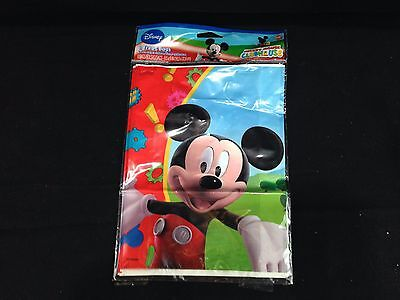 MICKEY MOUSE CLUBHOUSE ~ (8) Plastic Loot Bags Treat Sack ~ Birthday Baby Party  - Mickey Treat Bags