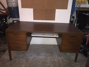 Large wood desk