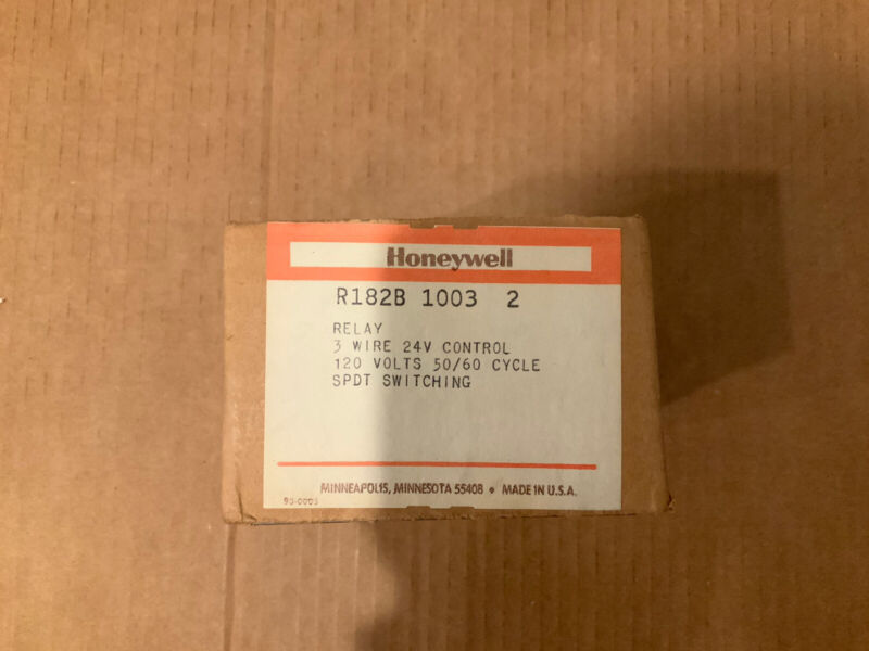NEW OLD STOCK HONEYWELL 8182B 1003 2 RELAY SPDT SWITCHING