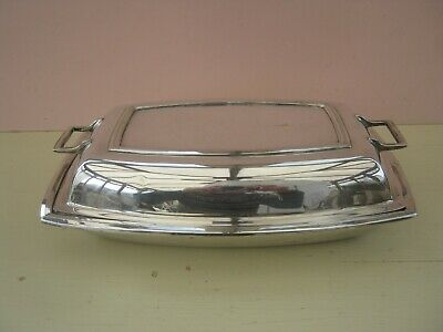 VINTAGE SILVER PLATE ENTREE SERVING DISH CIRCA 1930s. FREE POST