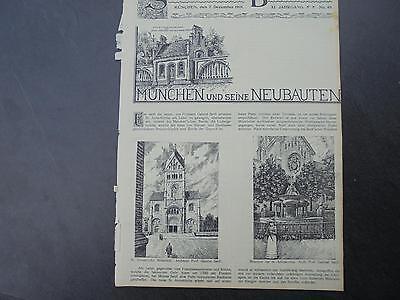 1901 Sdt. Bauzeitung 49 / München Annakirche / Gönningen