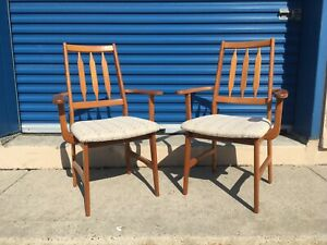 Pair of Mid century modern Teak armchairs- good condition!
