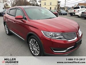 2016 Lincoln MKX Reserv Leather, Camera, Sensors, Htd Steering W