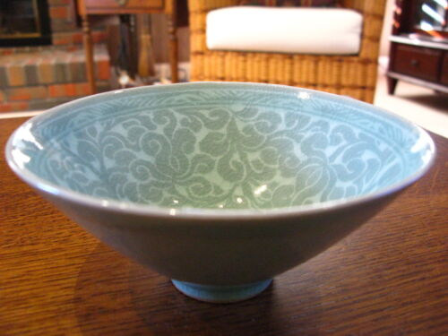 Antique Chinese Porcelain Hand Painted Crazing Bowl Signed
