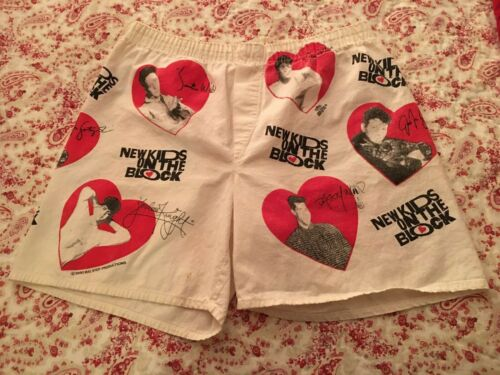 Vintage 1990 NKOTB New Kids On The Block Valentine Shorts Size Small