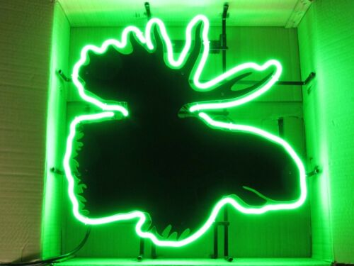 NO SHIPPING! Authentic New Moosehead Lager Neon Beer Bar Sign Light