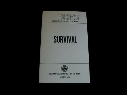 U.S ARMY SURVIVAL HANDBOOK 21-76 ILLUSTRATED 288 PAGES SURVIVALIST GUIDE