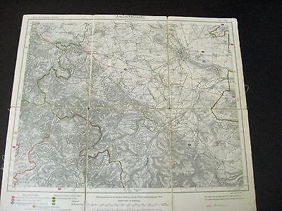 alte Landkarte Karte Thüringen Nr.437 Gotha von 1916 Waltershausen Ohrdruf