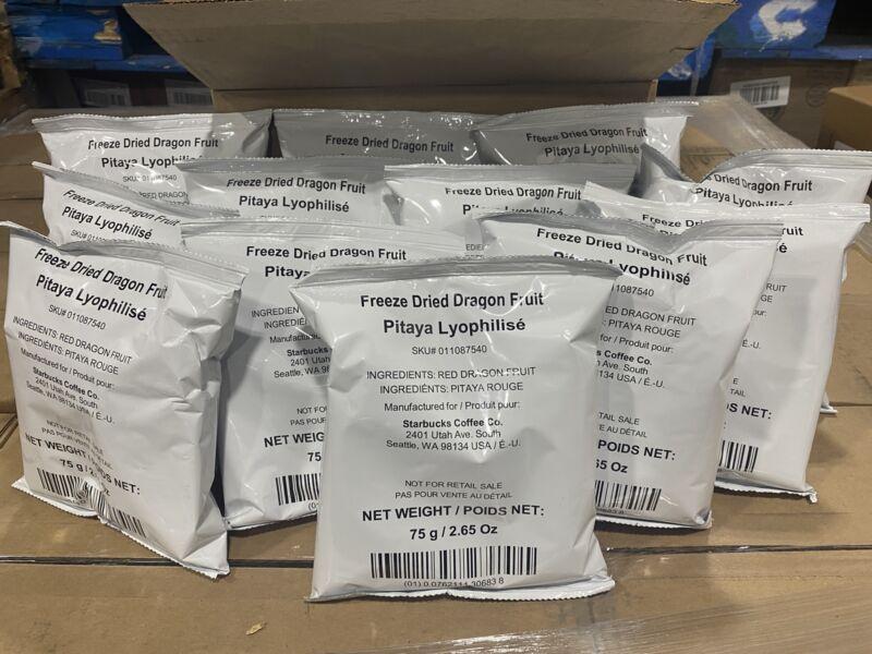 12-PACK Starbucks Freeze Dried Dragon Fruit 2.65oz Each Best Before 8/2020