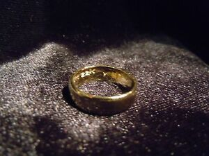 (WHY WEAR 10K,14K?) USA PLACER 22K SOLID GOLD BULLION SZ5-8 RING APM JEWELRY #2K