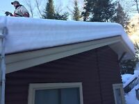 Roof shovelling snow removal haliburton
