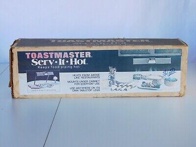 Toastmaster Serv It Hot Heat Lamp Food Warmer Box 6570 Vintage Tested Nos