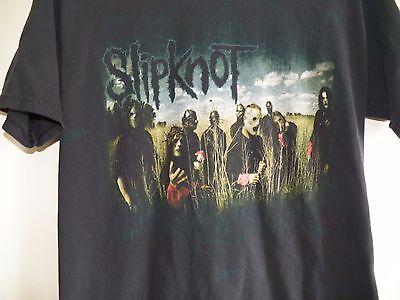 Vintage 1990s SLIPKNOT Rock Concert Black Medium Heavy Metal Band Tour T-Shirt