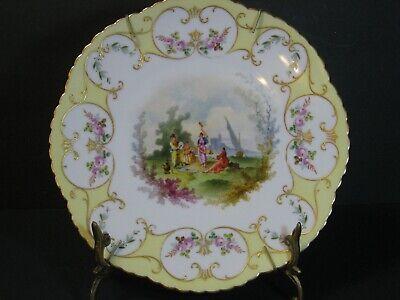 Fischer /& Mieg Vienna Style Porcelain Plate